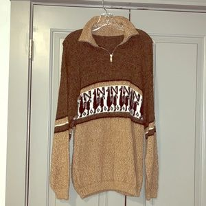 Genuine Alpaca Wool Sweater from Peru Size M